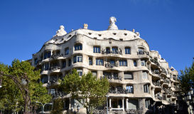 Casa Mila or La Pedrera in Barcelona, Spain Stock Images