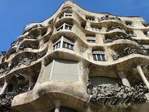 Casa Mila or La Pedrera, Barcelona, Spain Stock Photos