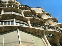 Casa Mila or La Pedrera, Barcelona, Spain Stock Image
