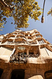 Casa Mila of La Pedrera in Barcelona, Spanje Royalty-vrije Stock Foto
