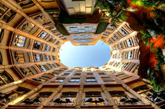 Casa Mila of La Pedrera in Barcelona, Spanje Royalty-vrije Stock Afbeelding