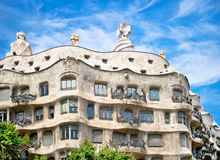 Casa Mila La Pedrera builbing Stock Photos