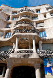 Casa Mila La Pedrera corner balconies at Barcelona Stock Photos