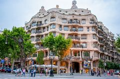 Casa Mila - La Pedrera One Of The Landmarks Of Barcelona Royalty Free Stock Photography
