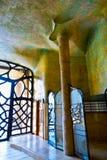 Casa Mila lub los angeles Pedrera. Wnętrze Obrazy Stock