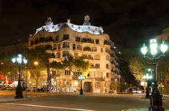 Casa Mila by night Royalty Free Stock Photo