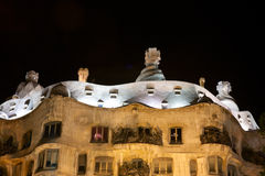 Casa Mila by night Stock Photo