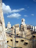 Casa Mila roof Royalty Free Stock Photography