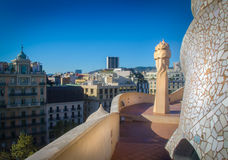 Casa Mila statue Royalty Free Stock Photography
