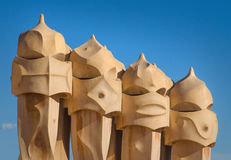 Casa Mila statues Royalty Free Stock Images