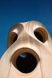 Casa Mila w Barcelona (los angeles Pedrera) Zdjęcie Stock