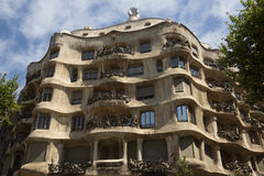 Casa Milia - Barcelona - Spain Stock Photography