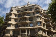 Casa Milia - Barcelona - Spain stock photography