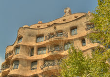 Casa milla exterior barcelona spain Royalty Free Stock Photography
