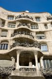 Casa Milo by Antoni Gaudi, Barcelona Royalty Free Stock Photo
