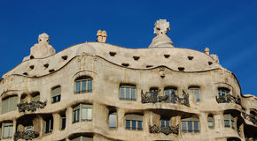 Casa Milo by Antoni Gaudi, Barcelona Royalty Free Stock Photography
