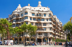 Casa Milo building. Barcelona, Spain. Royalty Free Stock Photography