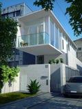 Casa minimalista moderna Fotografia de Stock