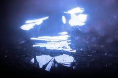 Casa misteriosa de Crystal Glass Fantasy Road Art, Melanc abstrato fotos de stock