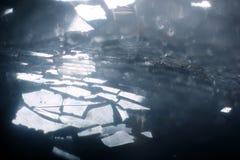 Casa misteriosa de Crystal Glass Fantasy Road Art, Melanc abstrato fotografia de stock royalty free