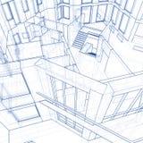 Casa - modelo de la configuración ilustración del vector