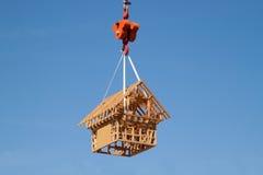 Casa modelo de la madera imágenes de archivo libres de regalías