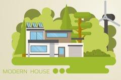 Casa moderna ilustração stock