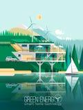 Casa moderna amistosa de Eco Foto de archivo libre de regalías