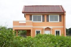 Casa moderna arancio Immagini Stock