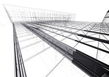 Casa moderna da arquitetura, telhado Imagem de Stock Royalty Free