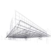 Casa moderna de la configuración, azotea ilustración del vector