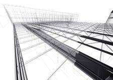 Casa moderna di architettura, tetto immagine stock libera da diritti