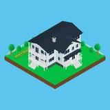 Casa moderna do ícone ilustração royalty free