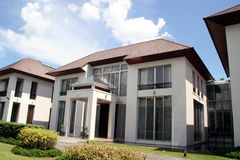 Casa moderna do estilo oriental Fotografia de Stock Royalty Free