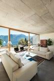 Casa moderna en el cemento imagen de archivo libre de regalías