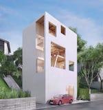 Casa moderna en estilo minimalista Imagenes de archivo