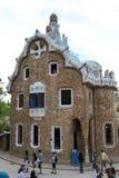 Casa moderna en Parc Guell (Barcelona) Imagen de archivo libre de regalías