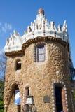 Casa moderna en Parc Guell (Barcelona) Fotografía de archivo