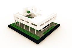 Casa moderna fatta dei mattoni di plastica Fotografia Stock