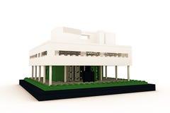Casa moderna fatta dei mattoni di plastica Fotografie Stock