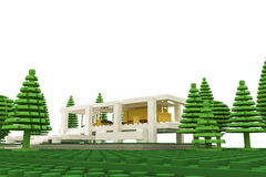 Casa moderna hecha de ladrillos plásticos Fotos de archivo