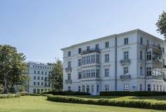 Casa moderna Heiligendamm monumentale nostalgico Fotografie Stock Libere da Diritti