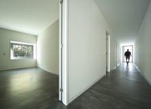 Casa moderna interior fotografia de stock royalty free