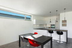 Casa moderna interior, cocina Foto de archivo