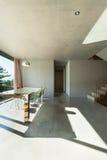 Casa moderna interior, comedor Fotos de archivo libres de regalías