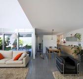 casa moderna interior del ladrillo Fotografía de archivo