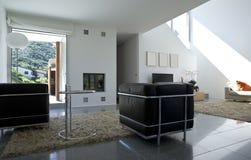casa moderna interior do tijolo foto de stock