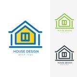 Casa moderna Logo Design Template Flat Simple Foto de archivo