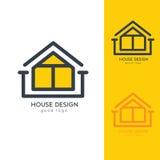 Casa moderna Logo Design Template Flat Simple Imagenes de archivo