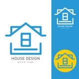 Casa moderna Logo Design Template Flat Simple Imagen de archivo